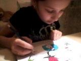 4 серия как рисовать Новогоднию Хеллоу  Китти сваими руками